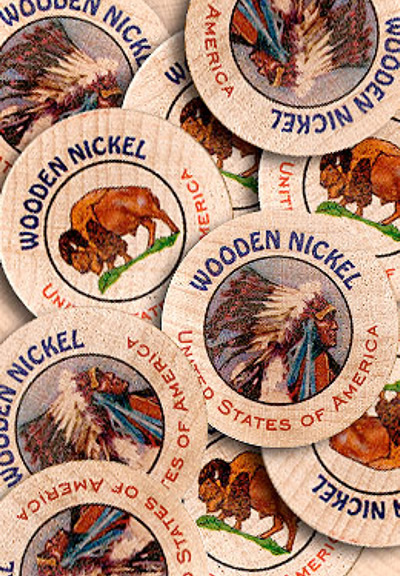 Full Color Wooden Nickels & Dollars