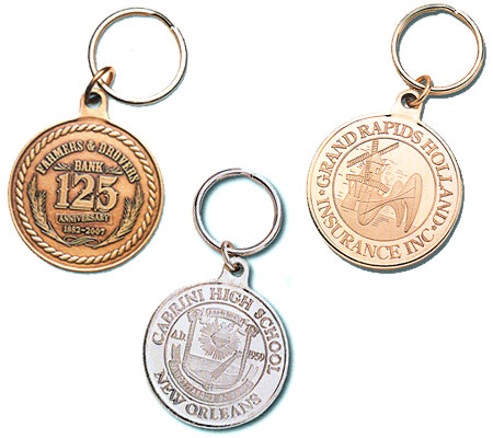 Custom Metal Coin Key Tags - Customizable With Your Design